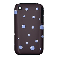 Blue bubbles Apple iPhone 3G/3GS Hardshell Case (PC+Silicone)