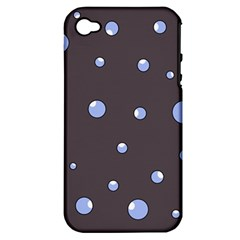 Blue bubbles Apple iPhone 4/4S Hardshell Case (PC+Silicone)