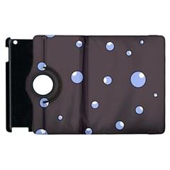 Blue bubbles Apple iPad 3/4 Flip 360 Case