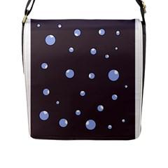 Blue bubbles Flap Messenger Bag (L)