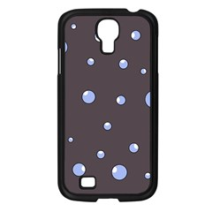 Blue bubbles Samsung Galaxy S4 I9500/ I9505 Case (Black)