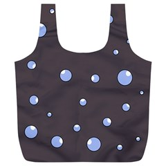 Blue bubbles Full Print Recycle Bags (L)