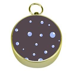 Blue bubbles Gold Compasses
