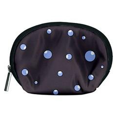 Blue bubbles Accessory Pouches (Medium)
