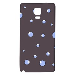 Blue bubbles Galaxy Note 4 Back Case