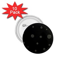 Gray bubbles 1.75  Buttons (10 pack)