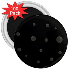 Gray bubbles 3  Magnets (100 pack)