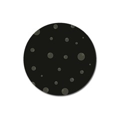 Gray bubbles Magnet 3  (Round)