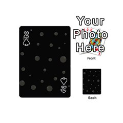 Gray bubbles Playing Cards 54 (Mini)