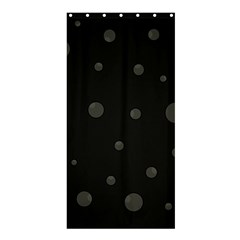 Gray bubbles Shower Curtain 36  x 72  (Stall)