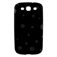 Gray bubbles Samsung Galaxy S III Hardshell Case