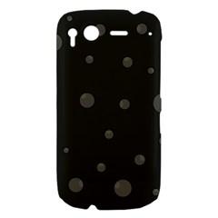 Gray bubbles HTC Desire S Hardshell Case