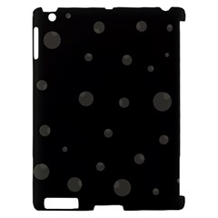 Gray bubbles Apple iPad 2 Hardshell Case (Compatible with Smart Cover)