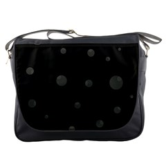 Gray bubbles Messenger Bags