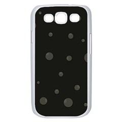 Gray bubbles Samsung Galaxy S III Case (White)
