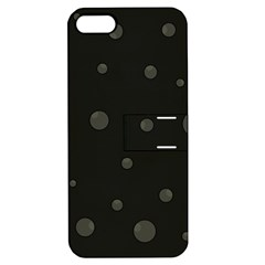 Gray bubbles Apple iPhone 5 Hardshell Case with Stand