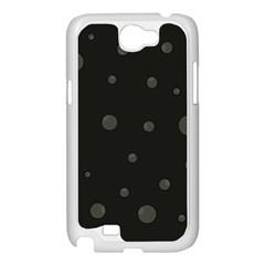 Gray bubbles Samsung Galaxy Note 2 Case (White)