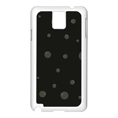 Gray bubbles Samsung Galaxy Note 3 N9005 Case (White)