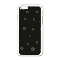 Gray bubbles Apple iPhone 6/6S White Enamel Case