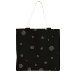 Gray bubbles Grocery Light Tote Bag