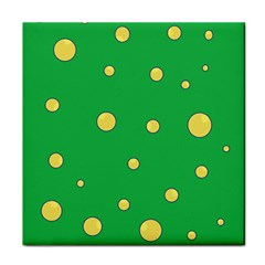 Yellow bubbles Tile Coasters