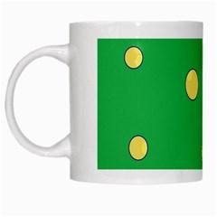 Yellow bubbles White Mugs