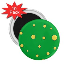 Yellow bubbles 2.25  Magnets (10 pack)