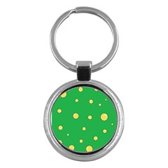 Yellow bubbles Key Chains (Round)