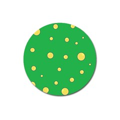 Yellow bubbles Magnet 3  (Round)