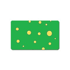 Yellow bubbles Magnet (Name Card)