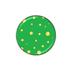 Yellow bubbles Hat Clip Ball Marker (10 pack)