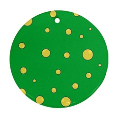 Yellow bubbles Round Ornament (Two Sides)