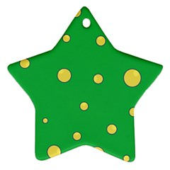 Yellow bubbles Star Ornament (Two Sides)