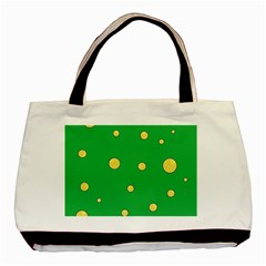 Yellow bubbles Basic Tote Bag (Two Sides)