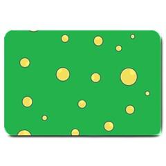 Yellow bubbles Large Doormat