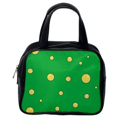 Yellow bubbles Classic Handbags (One Side)