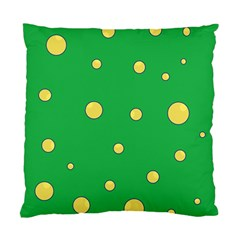 Yellow bubbles Standard Cushion Case (One Side)