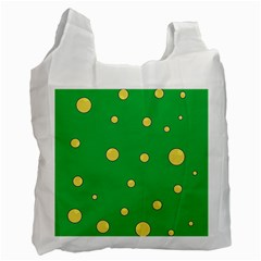 Yellow bubbles Recycle Bag (Two Side)