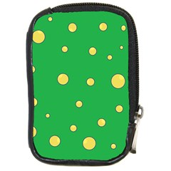 Yellow bubbles Compact Camera Cases