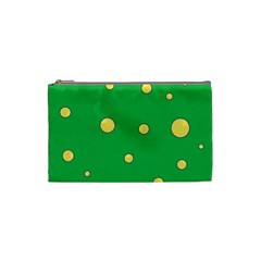 Yellow bubbles Cosmetic Bag (Small)