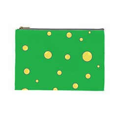 Yellow bubbles Cosmetic Bag (Large)