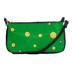 Yellow bubbles Shoulder Clutch Bags