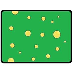Yellow bubbles Fleece Blanket (Large)