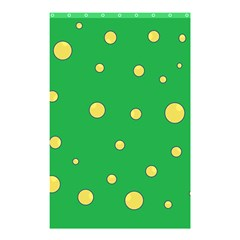 Yellow bubbles Shower Curtain 48  x 72  (Small)