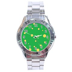 Yellow bubbles Stainless Steel Analogue Watch