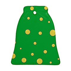 Yellow bubbles Bell Ornament (2 Sides)