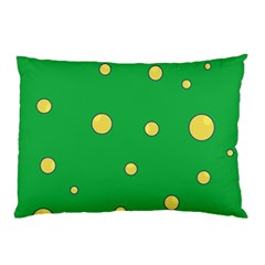 Yellow bubbles Pillow Case (Two Sides)