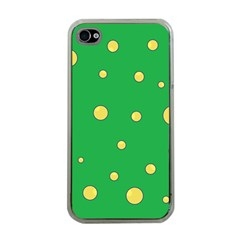 Yellow bubbles Apple iPhone 4 Case (Clear)
