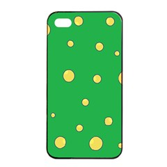 Yellow bubbles Apple iPhone 4/4s Seamless Case (Black)