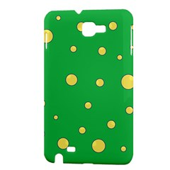 Yellow bubbles Samsung Galaxy Note 1 Hardshell Case